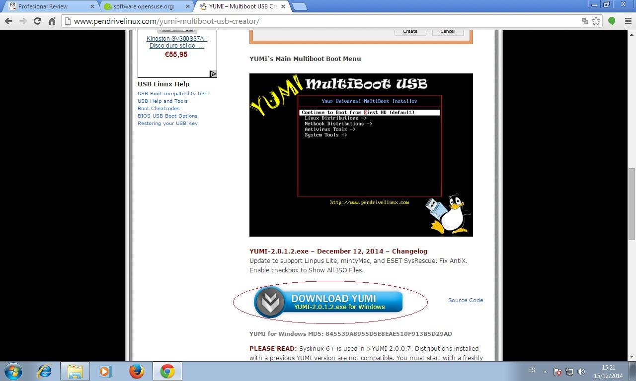 Cómo instalar Ubuntu 16.04 LTS descargar yumi