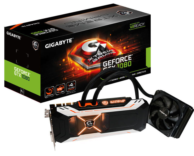 Gigabyte GeForce GTX 1080 Xtreme Gaming Water Cooled