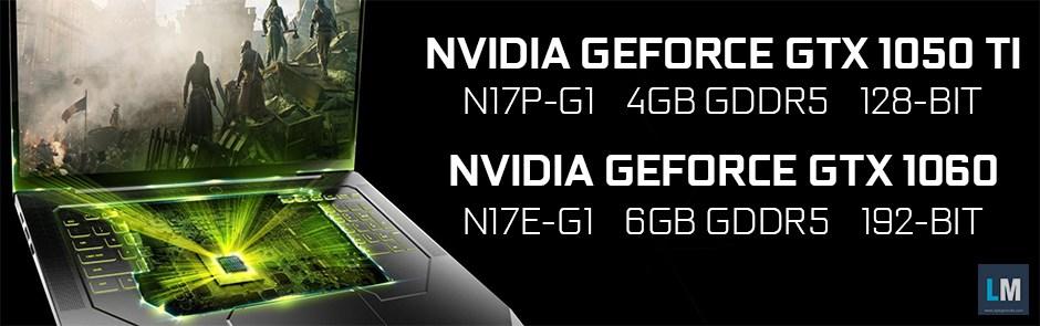 Nvidia GeForce GTX 1050Ti y GTX 1060 para portátiles en camino