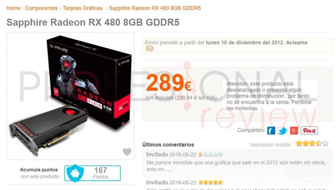 Sapphire Radeon RX 480 precio