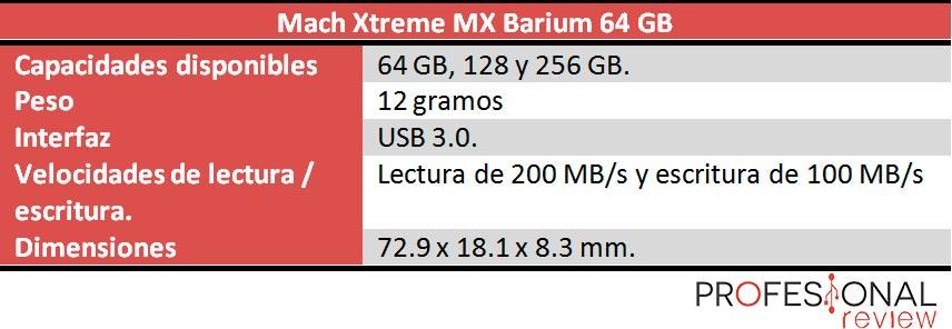 Mach Xtreme MX Barium caracteristicas