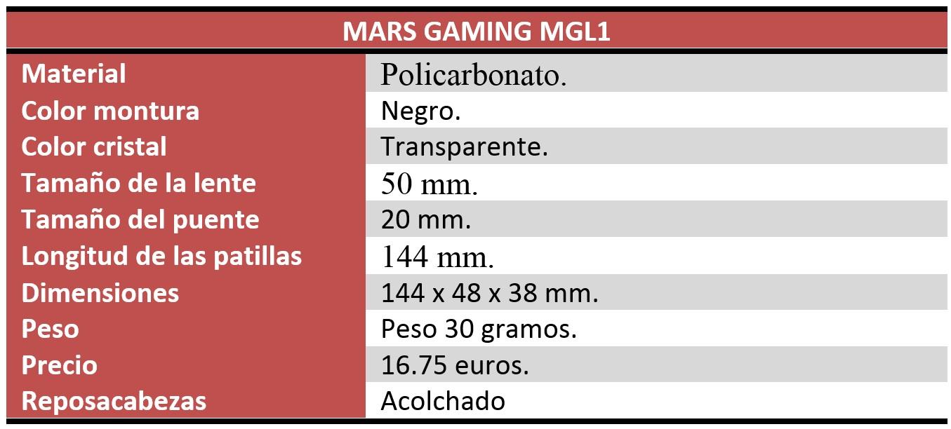 mars gaming mgl1 review características