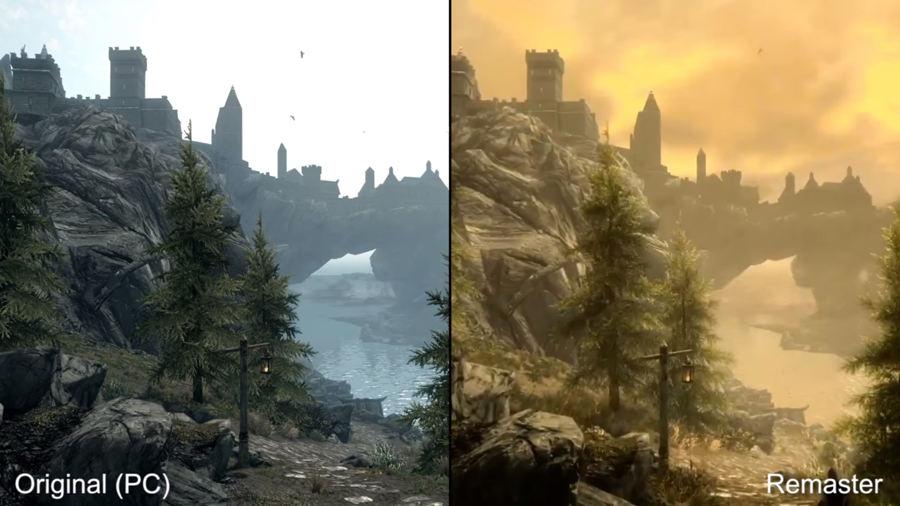 skyrim original vs remasterizado 2