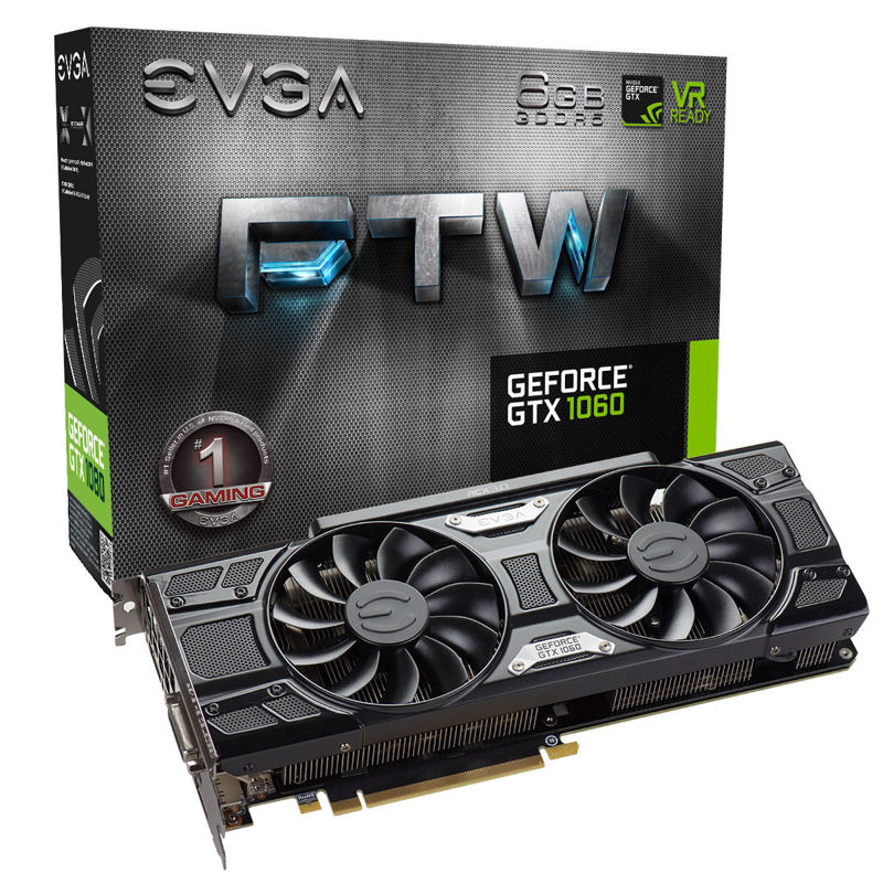 EVGA GeForce GTX 1060 SSC y FTW 1