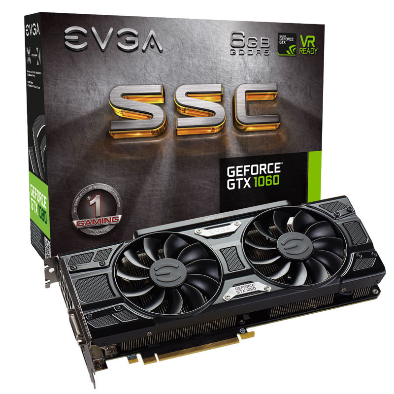 EVGA GeForce GTX 1060 SSC y FTW 2