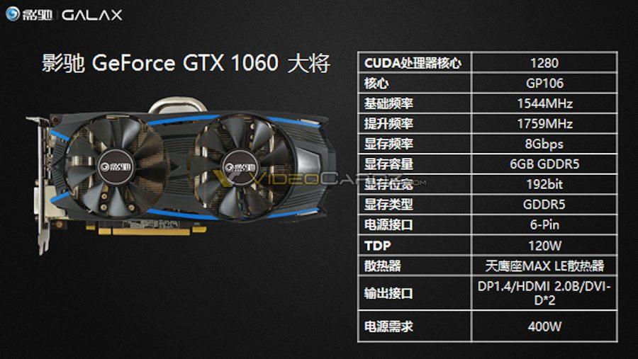 Galax también nos enseña sus GeForce GTX 1060 2