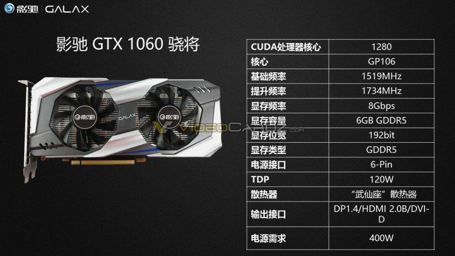 Galax también nos enseña sus GeForce GTX 1060 3