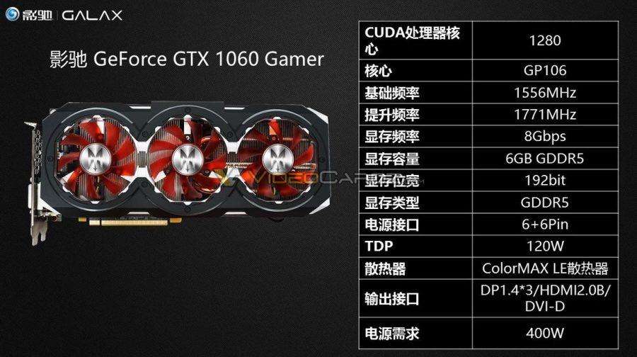 Galax también nos enseña sus GeForce GTX 1060 4