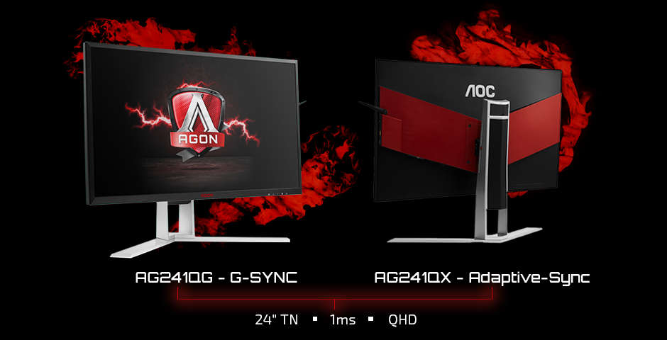 Nuevos monitores gaming 2K AOC AGON AG241QG y AG241QX
