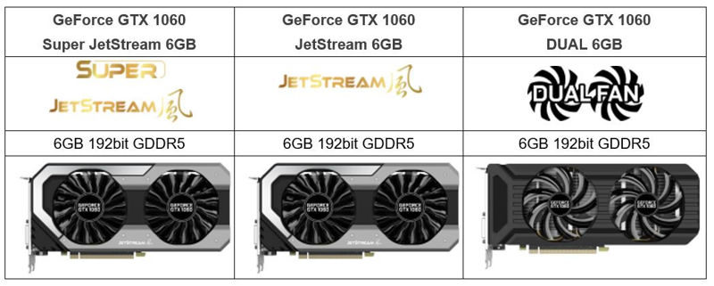 Palit introduce su serie GeForce GTX 1060 JetStream