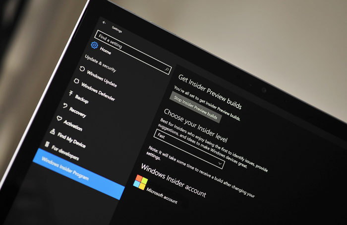 Windows 10 Build 14385