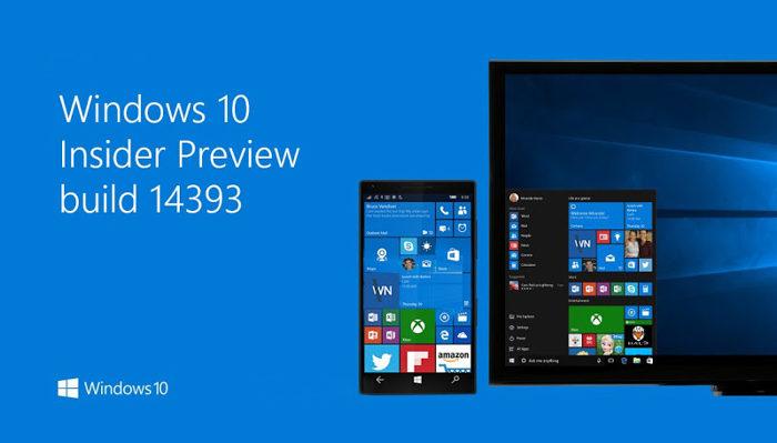 Windows 10 Build 14393 1