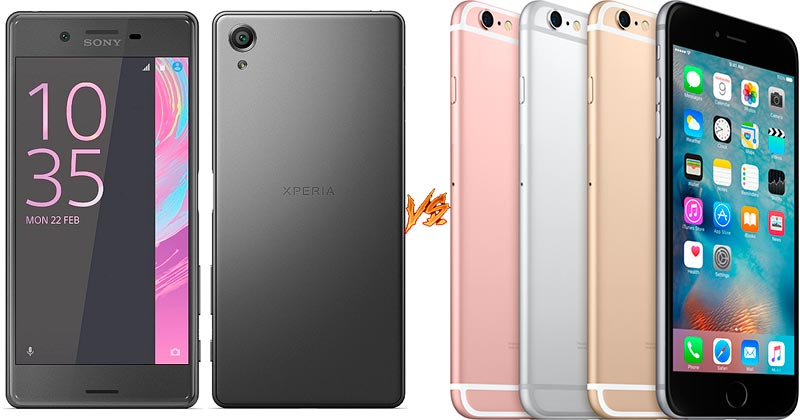 Sony Xperia X Performance vs iPhone 6S