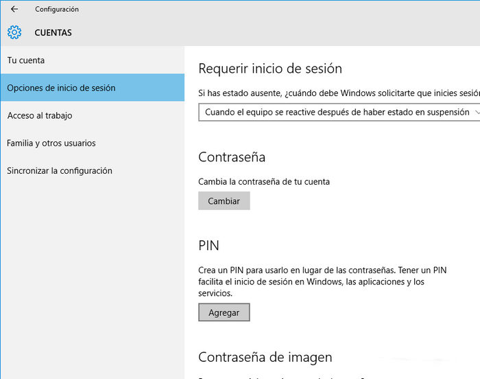windows 10 contraseña