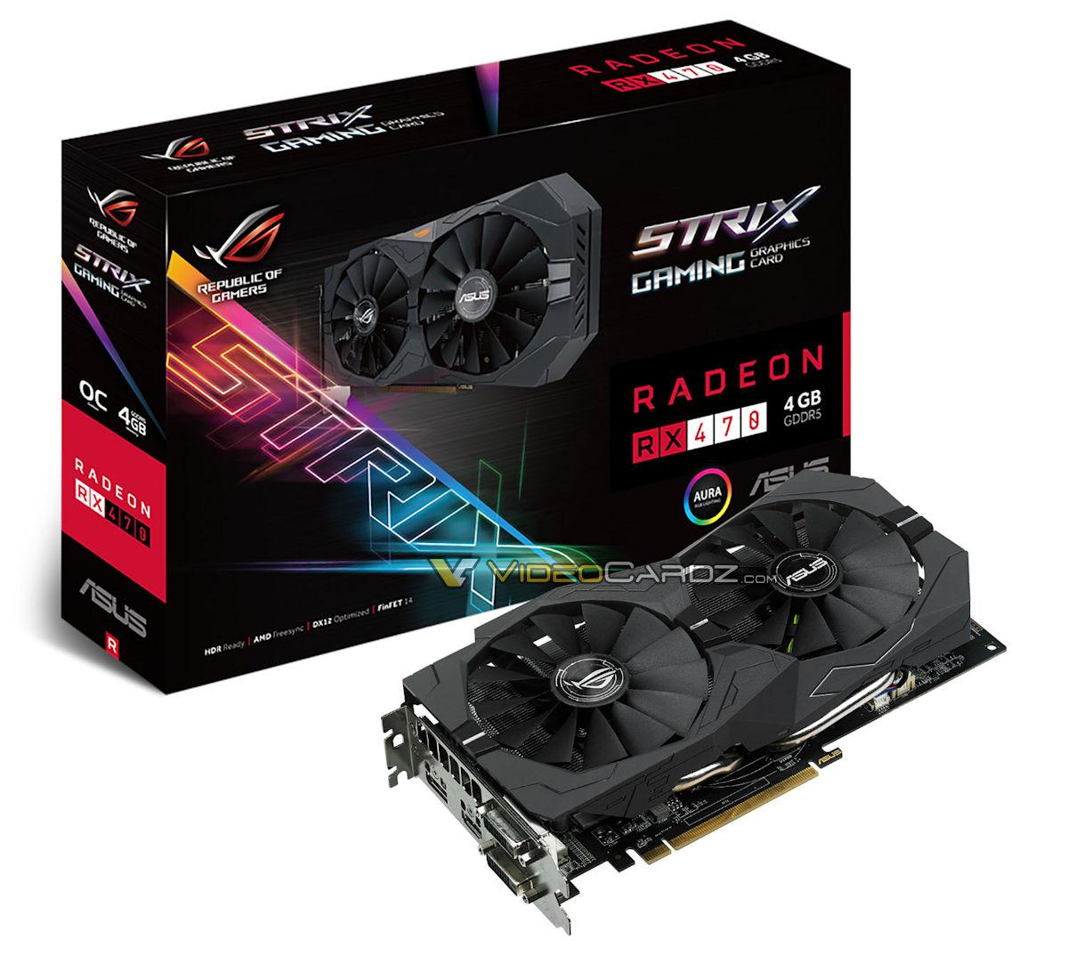 Radeon RX 470 ASUS RX 470 STRIX 4GB