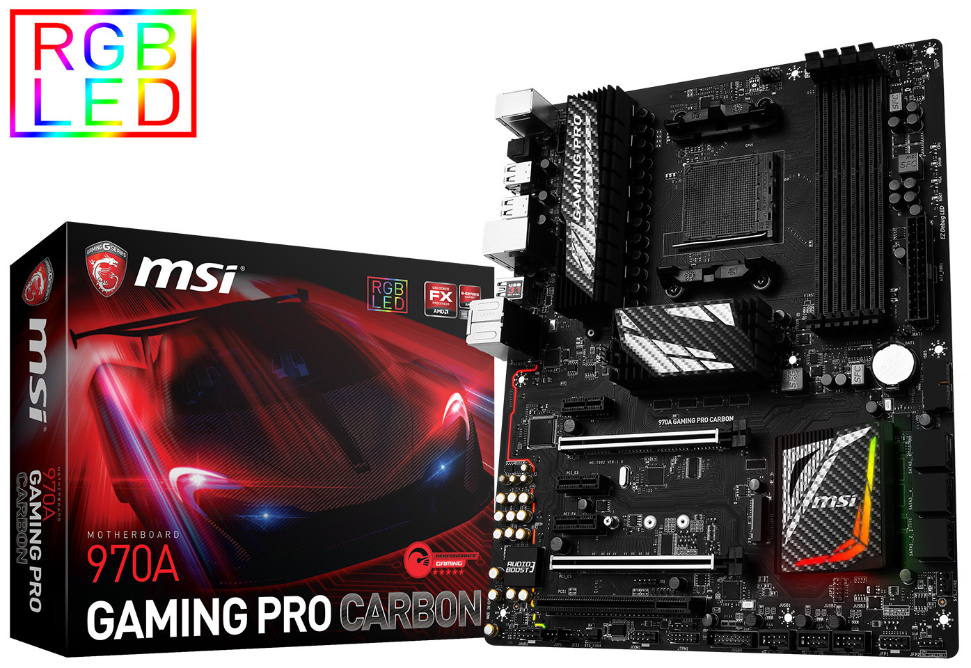 MSI anuncia su placa base 970A Gaming Pro Carbon 1