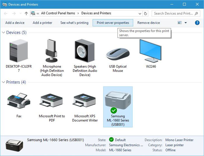 Windows 10 eliminar impresora 2