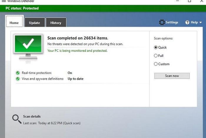 Windows 10 windows defender