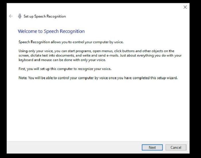 Windows reconocimiento de voz