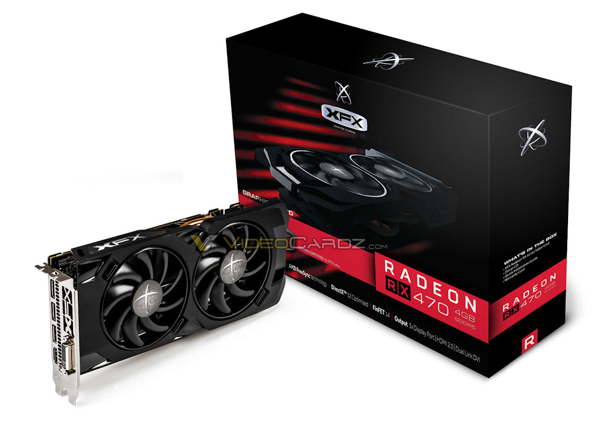 Radeon RX 470 XFX RX 470 4GB Black Edition
