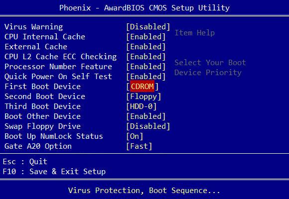 cambiar arranque BIOS