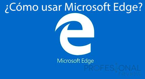 Cómo usar Microsoft Edge