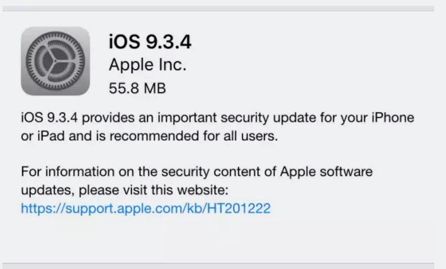 iOS 9.3.4 llega para poner fin a tu jailbreak