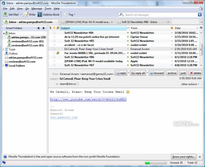 Aplicaciones para correo - Thunderbird
