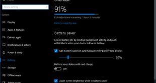 Aprende a activar el ahorro de batería en Windows 10 Anniversary Update 2