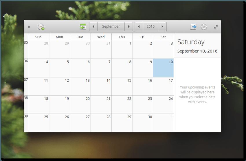 elementary os loki - calendario