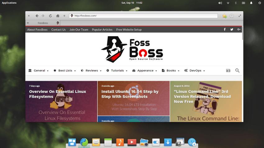 elementary os loki - navegador web