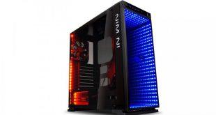 In Win 805 Infinity con mucho vidrio templado y luces LED RGB 1
