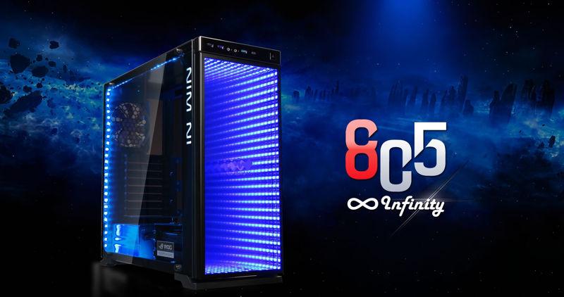 In Win 805 Infinity con mucho vidrio templado y luces LED RGB 3