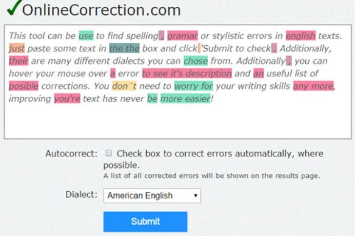 online-correction gramática