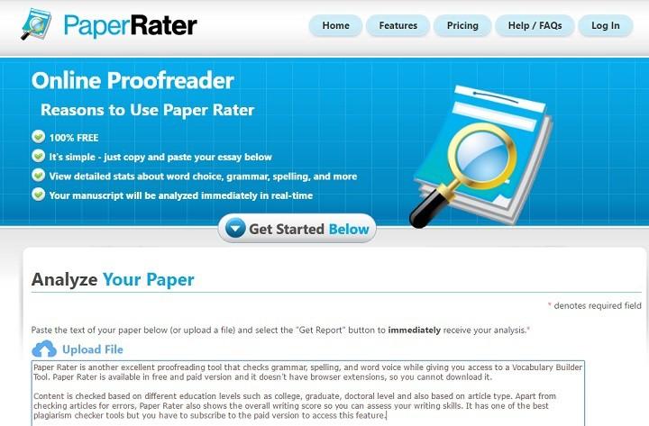 paper-rater gramática