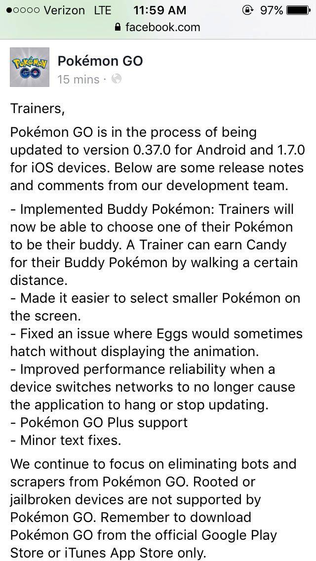 compañero Pokémon GO 0.37