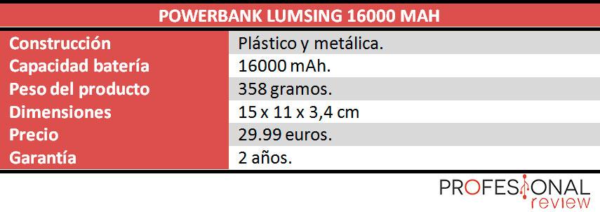lumsing-16000-caracteristicas
