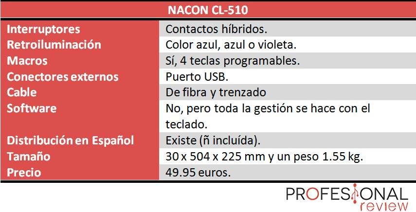 Nacon CL-510 caracteristicas