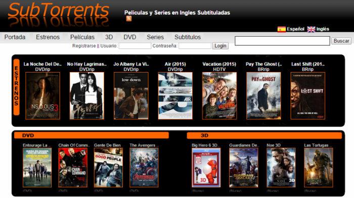 subtorrents torrents en español