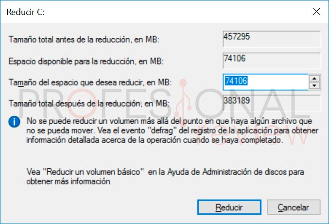 crear particiones en Windows