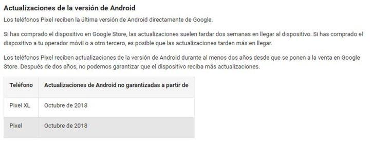 google-pixel-actualizaciones