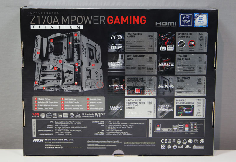 MSI Z170A MPOWER Gaming Titanium analisis