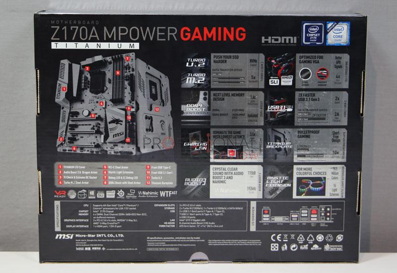 MSI Z170A MPOWER Gaming Titanium analisis