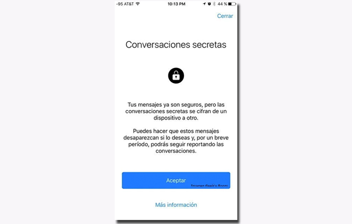 Conversaciones secretas facebook messenger