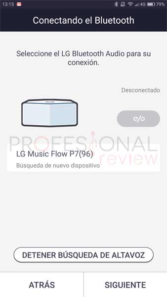 LG Music Flow P7 software