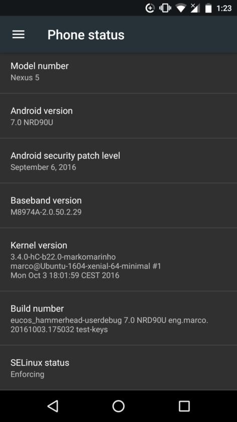 nexus 5 android 7.0