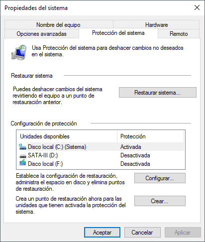 Registro de Windows