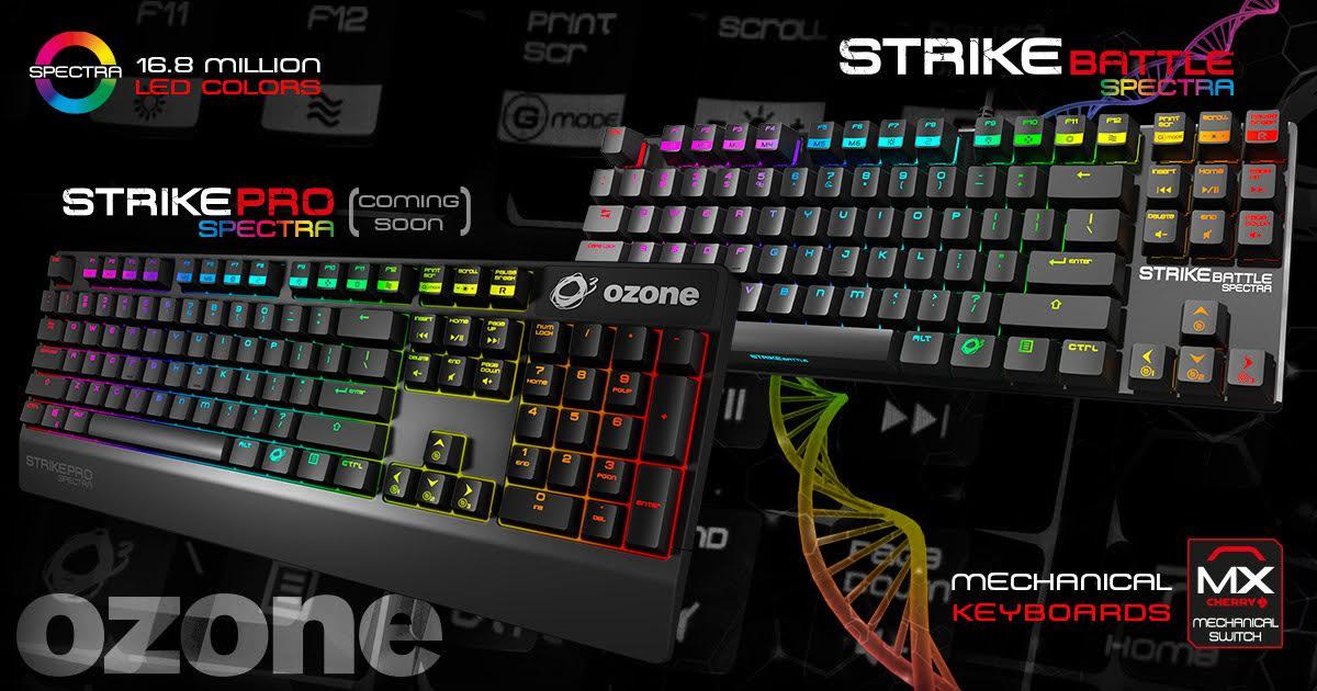 Photo of Ozone anuncia sus nuevos teclados Ozone Strike Pro Spectra y Strike Battle Spectra