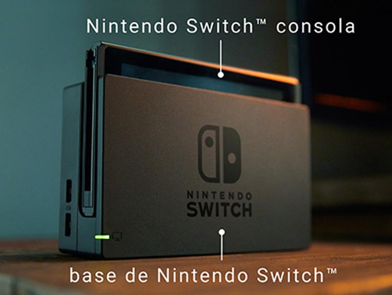 Consola y base de Nintendo Switch