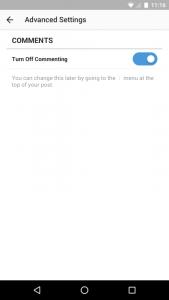 desactivar comentarios instagram